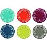 Colorful Table Bajo Plato 6 Piezas Mykonos Multicolor