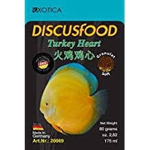 Comida Gránulo peces disco - Turkey Heart 80g Discusfood