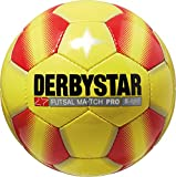 Derbystar Futsal Match Pro S-Light, Ball Größe 4 (290 g), gelb rot, 1089