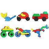 ShopMeFast 3D Bricks Building Blocks Creative Educational Toy For Kids (Multicolor)
