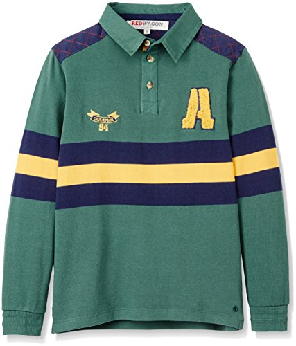 RED WAGON Jungen Rugby Sweatshirt, Grün (Green), 122 (Herstellergröße: 7 Jahre) (Rugby 122)