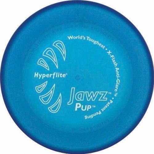 Hyperflite Hunde Frisbee Jawz bissfest für den kleinen Hund BLAU -