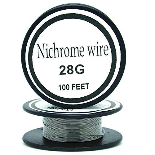 Nichrome wire36g 34g 32g 30g 28g 27g 26g 24g 22g 20g Calibre 100 FT 0,2 mm Resistencia AWG Resistencia (28Gauge/100Feet)