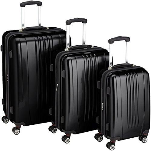Packenger Premium Koffer 3 er-Set Stone M/L/XL, 78 cm, 68 Liter, Schwarz
