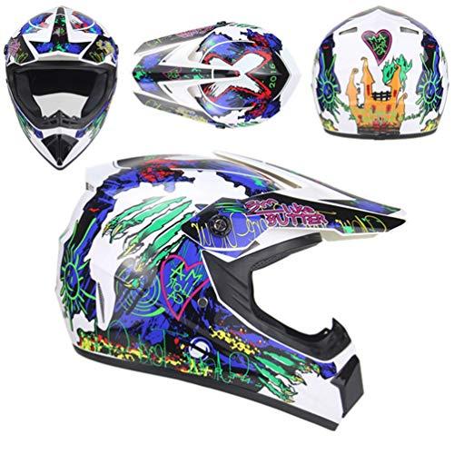 Adulto leggero Motocross Caschi off road moto Racing tappi di protezione unisex marea colorato graffiti comfort traspirante stagioni universale ciclismo casco 52-60cm