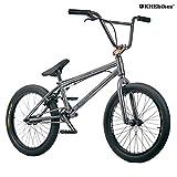 KHE BMX Fahrrad CENTRIX 20 Zoll patentierter Affix 360° Rotor nur 10,5kg! schwarz-anthrazit rot-braun (schwarz-anthrazit)