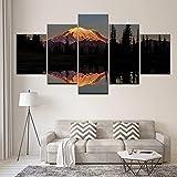 YUHONG Leinwand Malerei Sonnenuntergang in Rennes Mountain