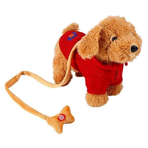 Elektronisches Haustier Hund niedlichen Plüsch Spielzeug Singende Walking Musical Puppy Pet Weiche Spielzeug für Baby Kids rot -