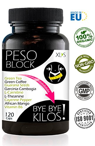 PESO BLOCK Abnehmen & Kilo runter | Fatburner + Appetitzügler extrem stark |120 Kapseln (60 Tage) | Hervorragend Gewicht verlieren am Bauch + fester Körper | Effektiv für Männer und Frauen