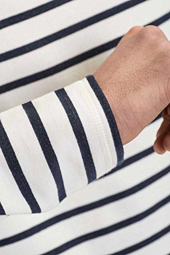 Reell Longsleeve Striped Longsleeve Artikel-Nr.1303-003 - 03-004 Off-White / Navy