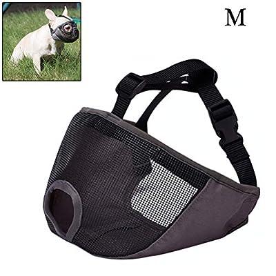 Comtervi Dog Muzzle with Flattened Snout Adjustable Breathable English Bulldog, French Bulldog, Pekingese, Shih-Tzu, Pug etc by Comtervi