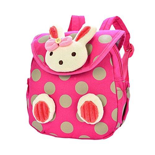 JameStyle26 Bunny Rabbit 3D-Motiv Kinderrucksack Kindergarten Kaninchen Tornister Häschen Rucksack Schultasche Backpack Baby Tasche Mädchen Junge (Pink) -