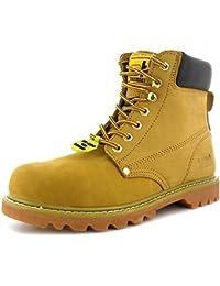 New MensGents Tan Tradesafe Lace Up Steel Toe Cap Safety Boots  Wheat  UK SIZES 312  2AX6MI84S