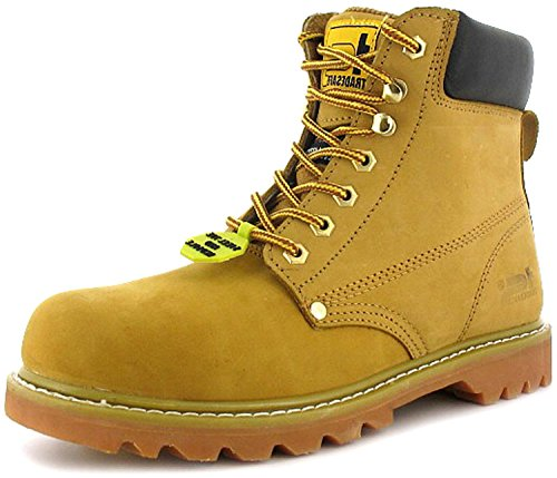 New Mens/Gents Tan Tradesafe Lace Up Steel Toe Cap Safety Boots. -...
