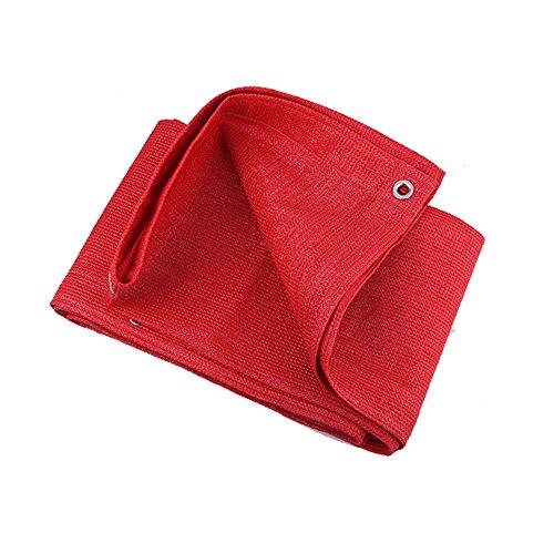 Sonnensegel Duo 95% rote Rechteck-Sonnenschutz-Segel-Überdachung - durchlässiger UVblock-Gewebe-dauerhafter Patio im Freien - besonders angefertigt Verfügbar (größe : 3×5M) - Im Rot-gewebe Freien