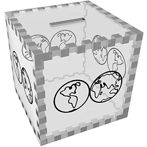Azeeda 'Mapa Mundo' Caja Dinero / Hucha MB00059865