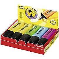 STABILO BOSS Original - Marcador fluorescente - Caja con 10 marcadores - Varios colores