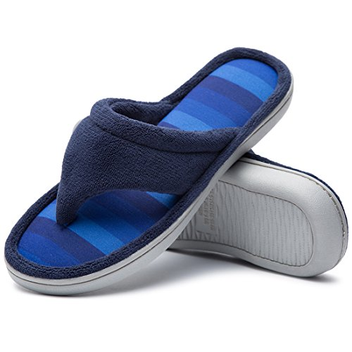 the best attitude 6c15a f3743 Cozy Niche Ladies  Microfiber Gradational Color Knit Thong Slippers,  Textured Memory Foam Spa Flip