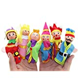 VIASA 6PCS Finger Toys Hand Puppets Christmas Gift For Kids