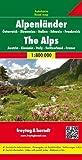 Alpenländer, Autokarte 1:800.000: Wegenkaart 1:800 000 (freytag & berndt Auto + Freizeitkarten) - Freytag-Berndt und Artaria KG