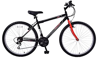 "Boys Arden Trail 24"" Wheel Mountain Bike 13"" Frame 21 Speed Red & Black"