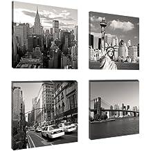 Visario 6901 - Fotografía sobre lienzo (4 x 20 x 20 cm), diseño de Nueva York