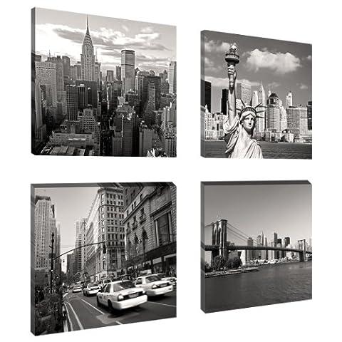 Visario Leinwandbilder 6901 Bild auf Leinwand New York Set, 4