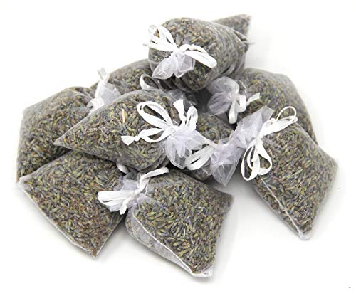 Quertee® '5 x sachets de lavande dansBlanc avec véritable Lavande - Total 50 g Fleurs de Lavande