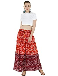 f9460a80ef Women's Full Length Elastic Waisted Maxi Skirt Floral Print Long Skirts