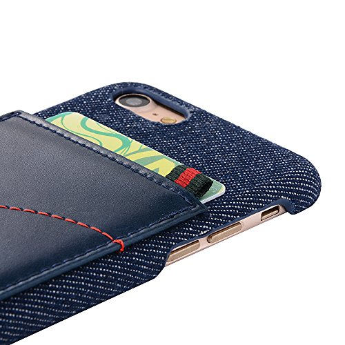 iPhone 8 Plus Hülle, Valenth [Anti-Drop] Slim Vollschutz Schutzhülle mit Kartensteckplatz für iPhone 7 Plus / 8 Plus Schwarz
