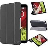 tinxi® PU piel funda para LG G Pad 8.3 V500 Tablet 8,3 pulgadas (21.08cm) protectora Cover Tablet Notebook Case con funcion de soporte con el negro fondo