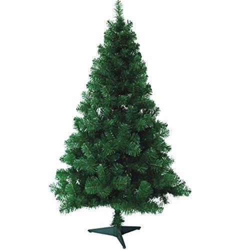 Hengda® Árbol de Navidad Artificial PINOS único Árbol Decorativo con soporte en plástico Christmas 120CM Verde con 200ramas material PVC