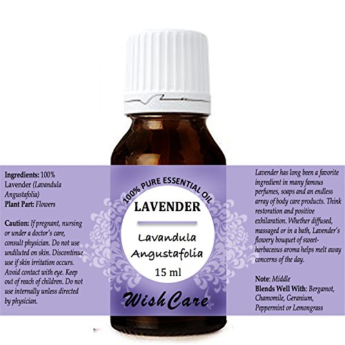 WishCare Lavender Essential Oil 15 ML - 100% Pure, Undiluted & Natural Therapeutic Grade - For Aromatherapy & Massage