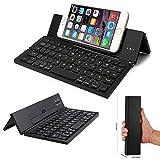 Doogee Titans 2 DG700 Smartphone Wireless Aluminium Minitastatur / Faltbare Bluetooth QWERTY Keyboard - F18 Schwarz