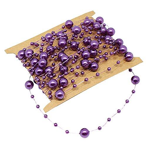 Butterme 5M Angeln Linie künstliche Perlen Schnur Korn Girlande Partei Hochzeits Dekoration Girlande, das DIY Zusatzgerät herstellt (Korn-linie)