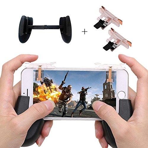 Teepao 2Mobile Game Controller L1R1Mobile Löst empfindliche Shoot und Ziel Tasten für pubg/fornite/Messer Out/Rules of Survival, Best Joystick für 11,4–16,5cm Android iOS, mit Schwarz Gamepad