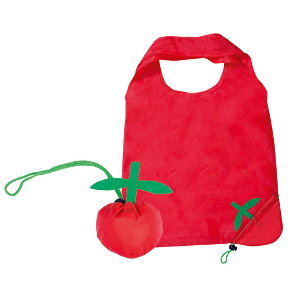 Confezione da 2 leggero Nylon pieghevole riutilizzabile Shopping Grocery Tote Bag di frutta