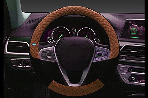 NIKAVI Unique Steering Wheel Cover (NKVUNQ05, Brown)