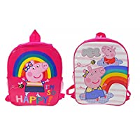 Peppa Pig Reversible Backpack Bags & Accessories Synthetic Material Kids Bags Pink/Multi