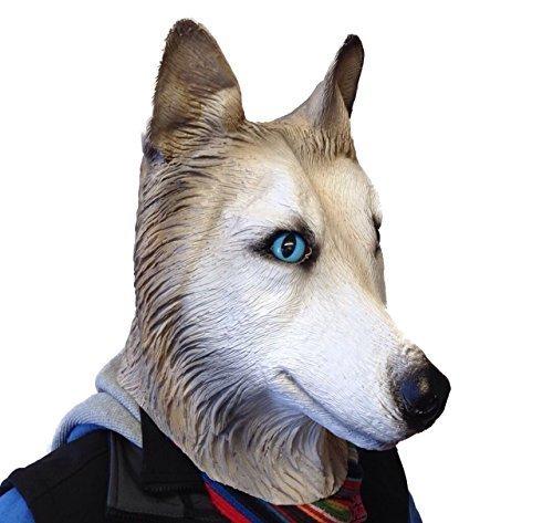 Wolf Latex Maske Tiermasken Verkleidung Kostümparty Herrenabend Wochenenden Wolf-latex-maske