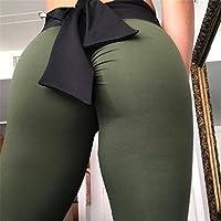 Hukangyu1231 Pantalones de Yoga de Bolsillo de Cintura Alta. Ej Pantalones de Yoga Apretados Caderas Delgadas Ejercicio Fitness Pantalones Delgados Las Mujeres se aplican a Fitness Home