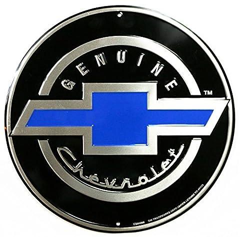 Véritable Chevrolet Chevy rond rétro vintage Tin Sign