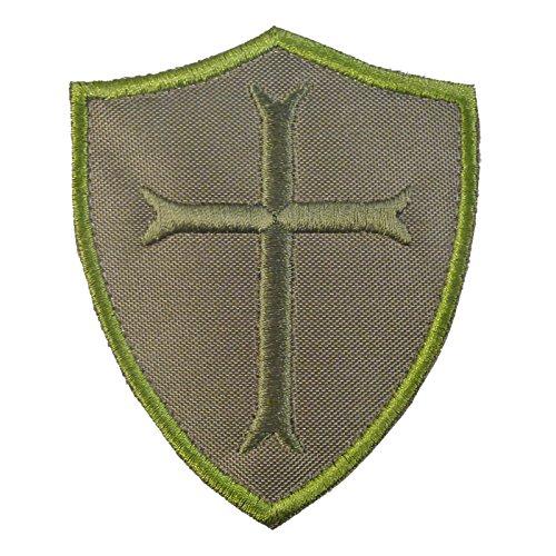 Olive Drab Green OD Crusaders Templar Cross US Navy Seals DEVGRU Embroidered Fastener Aufnäher Patch (Us Drab Navy Olive)