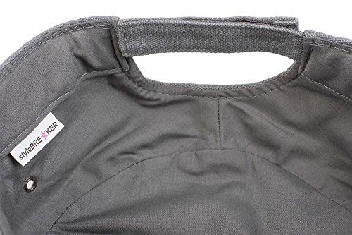 styleBREAKER Cap im Military-Stil aus robustem Baumwollcanvas (Schwarz) - 5