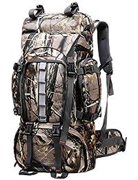 28924a5103 JOTHIN 60L Grande Zaino Trekking Outdoor Sport Borsa da Alpinismo  Resistenti Panno Oxford Zaini da Escursionismo Impermeabile Uomo…