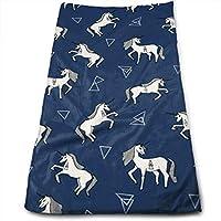 WBinHua Toallas, Toallas de Playa, Beach Towel, Hand Towels, White Unicorn 100