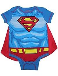 2 PCS SET Superman Bébés Garçons Romper à une pièce avec capuchon amovible