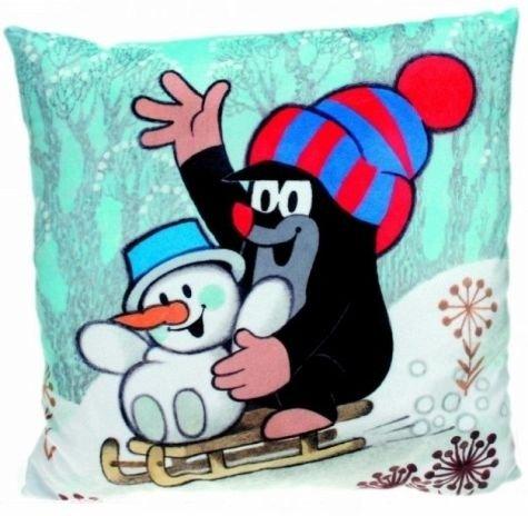 Der kleine Maulwurf - Kissen mit Schneemann