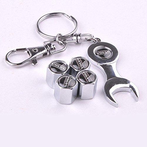set-di-4-tappi-antipolvere-per-valvole-pneumatici-con-chiave-stemma-con-logo-volvo-in-colore-nero