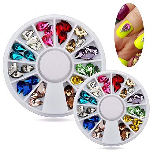 homeofying 3D Nail Art Strass Glitter Acryl Tipps Dekoration Maniküre Tools Rad